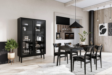 CASO 121 dining Esther 700 display cabinet black HR